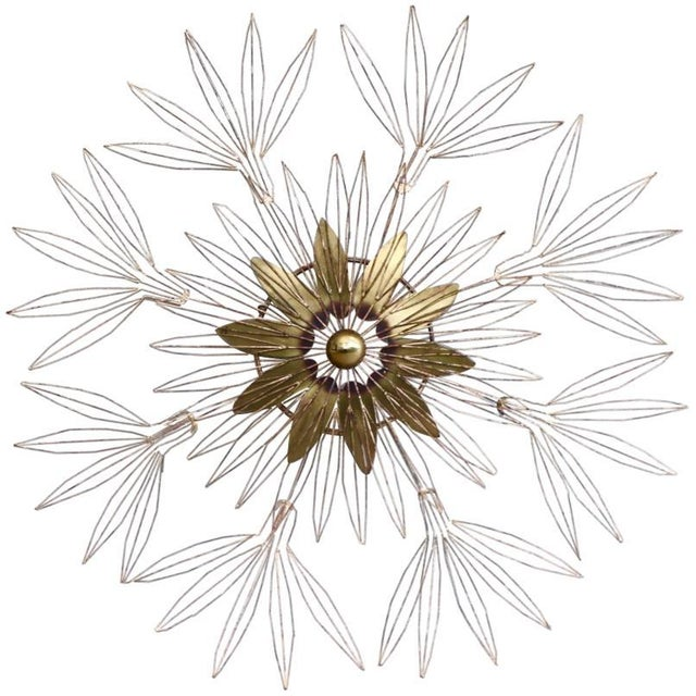 Curtis Jere Signed 1980 Star Blossom Wall Sculpture For Sale - Image 12 of 12