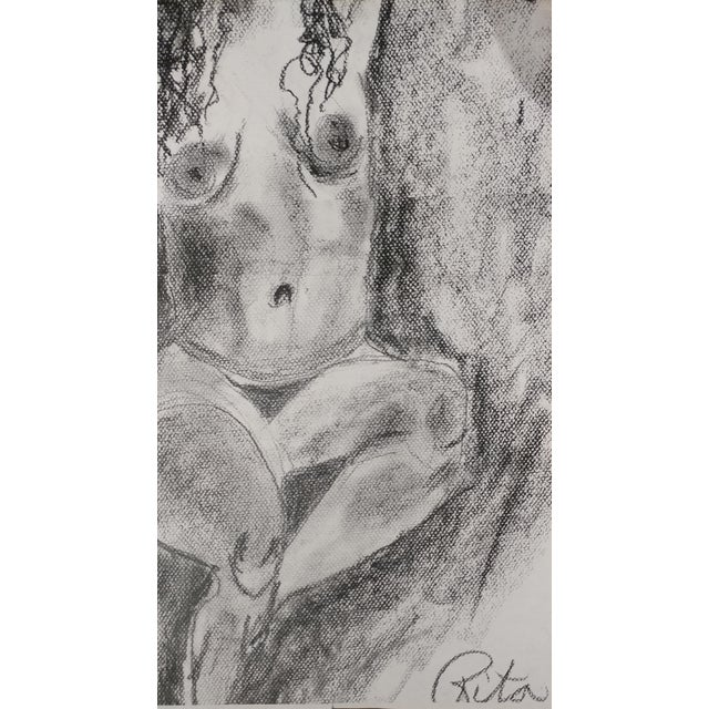Rita Shulak -Nude Female - Sketch Painting-Charcoal For Sale In Los Angeles - Image 6 of 8