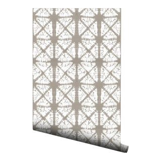 Beige Diamond Pre-Pasted Wallpaper (2 Pack) For Sale