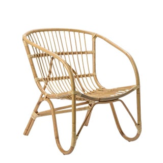 Modern Boho Chic Rattan Chair For Sale