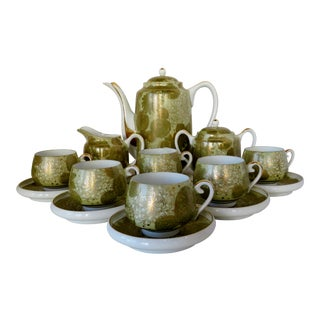 Bone China Tea Set, 15 Pieces For Sale