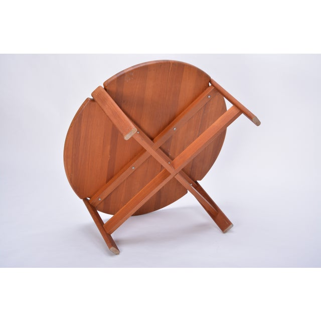 Late 20th Century Scandinavian Round Coffee Table in Solid Teak, 1970s For Sale - Image 5 of 10