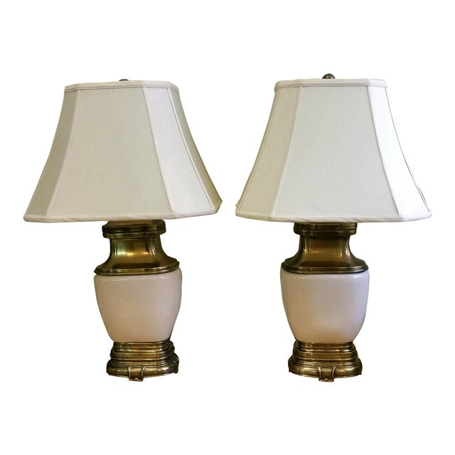Chapman Ceramic and Brass Hollywood Regency Lamps - Pair - Image 1 of 9