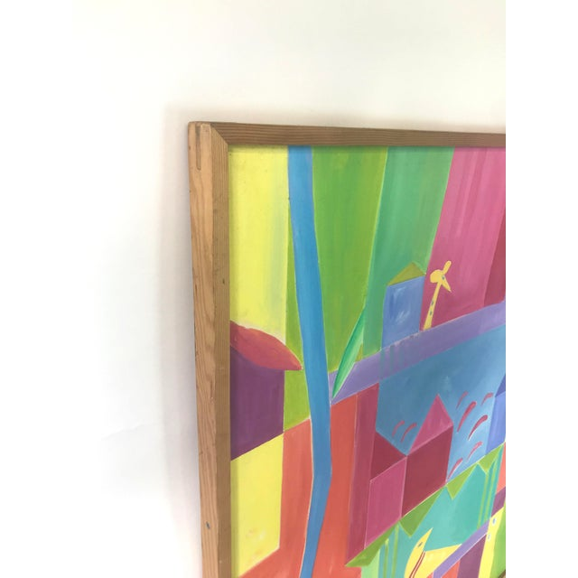 Abstract Original JoAnn Crisp Ellert Oil Painting on Canvas, 1990s For Sale - Image 3 of 11