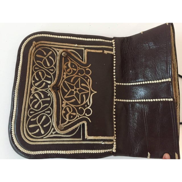Cross Body Leather African Berber Tribal Moroccan Bag For Sale In Los Angeles - Image 6 of 10