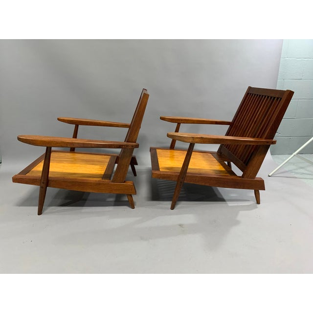 George Nakashima Pair of Spindle Back Lounge Chairs For Sale - Image 13 of 13