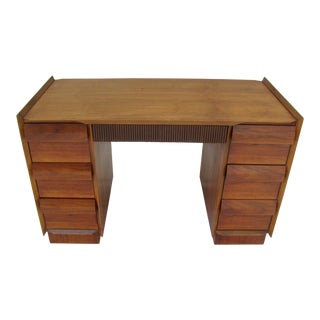 Lane Mid-Century Danish Modern Walnut Desk