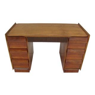 Lane Mid-Century Danish Modern Walnut Desk