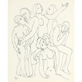 Intertwined Group, Ink on Paper For Sale