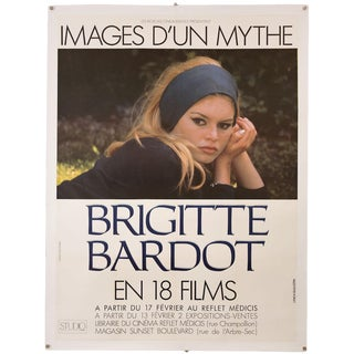 Vintage Original Brigitte Bardot French Film Festival Poster For Sale