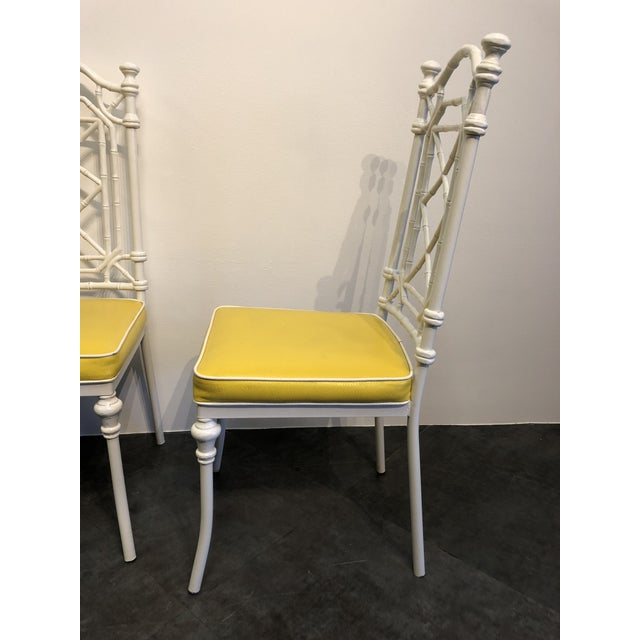 1960s 1960s Vintage Kessler for Thomasville Iron Bamboo Chairs - Set of Six For Sale - Image 5 of 12