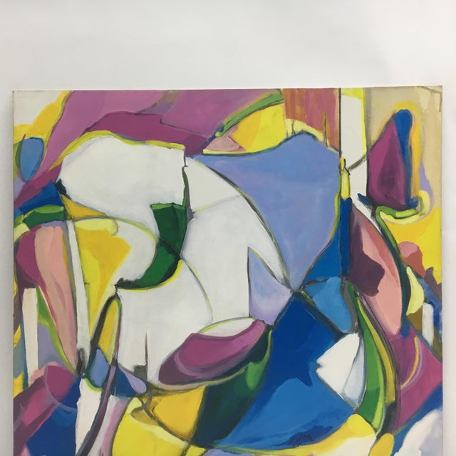 Deon Robertson Abstract Oil on Canvas For Sale - Image 4 of 4