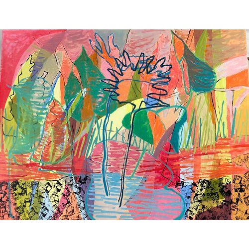 Charlotte's work is largely abstract with landscape/nature elements incorporated into the paintings. Her inspiration comes...