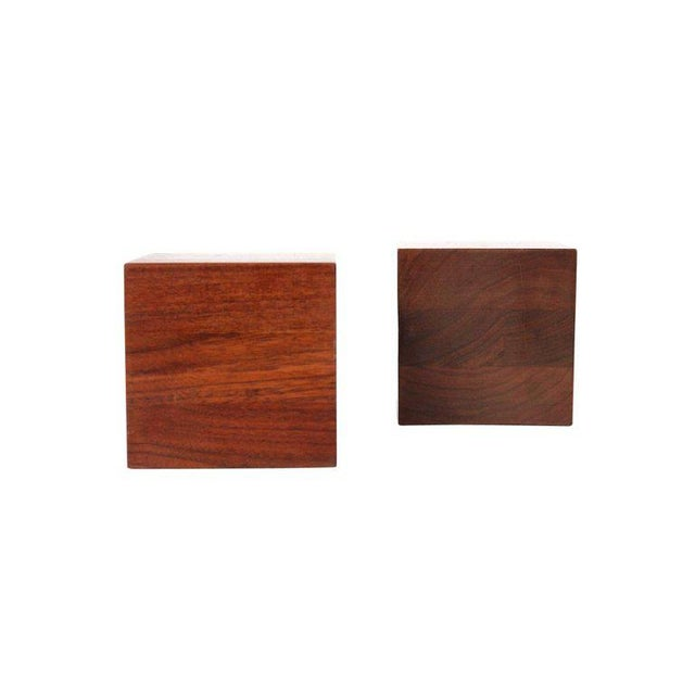 Mid-Century Modern Walnut Martz Bookends For Sale - Image 3 of 11