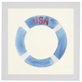 "Usa Life Preserver - 27"" X 27"" For Sale"