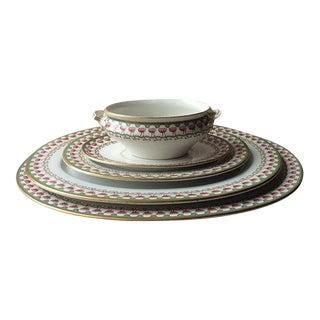 Antique English Fine Porcelain Serving Pieces - Set of 5 For Sale