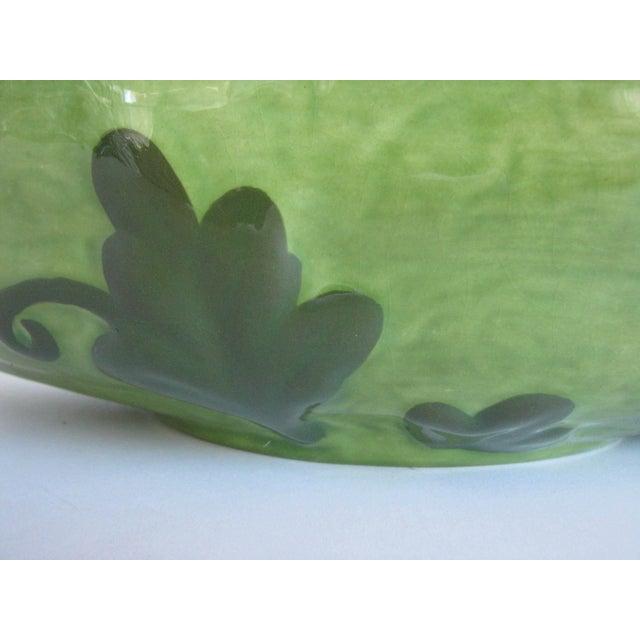 Vintage Ceramic Watermelon Shaped Serving Bowl Set - 3 Pieces For Sale - Image 11 of 13