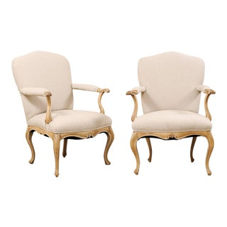 19th Century Italian Upholstered Armchairs - a Pair For Sale