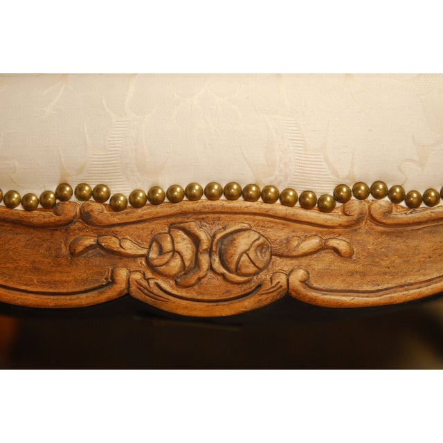 Louis XV Style Walnut Bergeres - Pair - Image 8 of 8