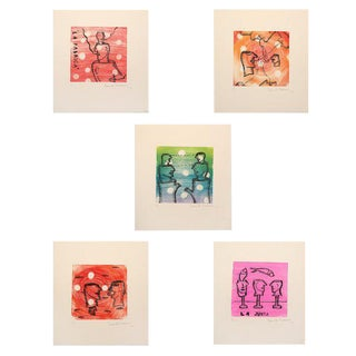 Set of 5 David Serrano Silkscreen Prints For Sale