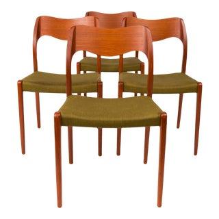 Vintage Møller Model 71 Dining Chairs - Set of 4 For Sale