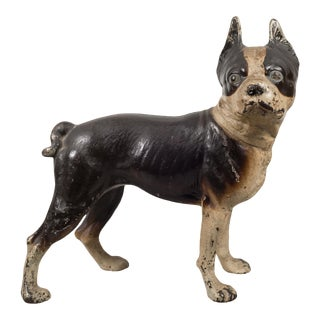 Cast Iron Boston Terrier Doorstop by Hubley C.1910-1940 For Sale