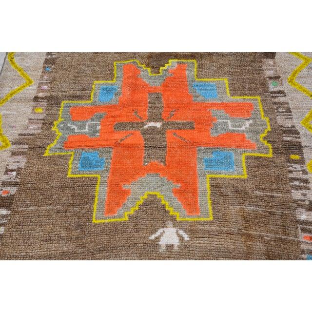 "Vintage Kurdish Tribal Rug,3'8""x10'5"" For Sale - Image 4 of 6"