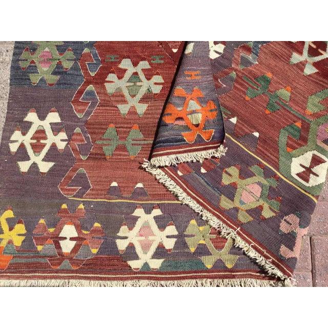 Rustic Turkish Kilim Rug For Sale - Image 10 of 11
