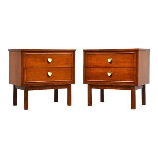 Cherry & Brass Dixie Nightstands- a Pair For Sale