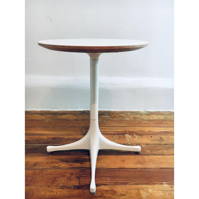 Metal Herman Miller George Nelson Pedestal Side Table Mid Century Modern Eames For Sale - Image 7 of 9
