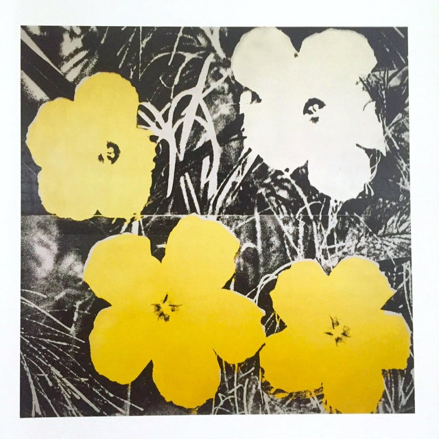 "This Andy Warhol Foundation Collector's Pop Art offset lithograph print "" Flowers "" ( yellow & white ) is a very special..."