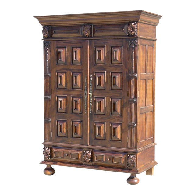 louis xiii style mahogany armoire chairish. Black Bedroom Furniture Sets. Home Design Ideas