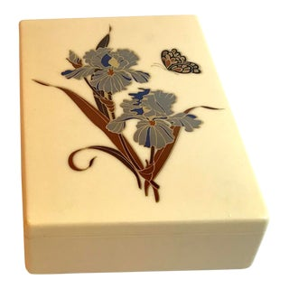 Vintage Chinoiserie Trinket Box For Sale