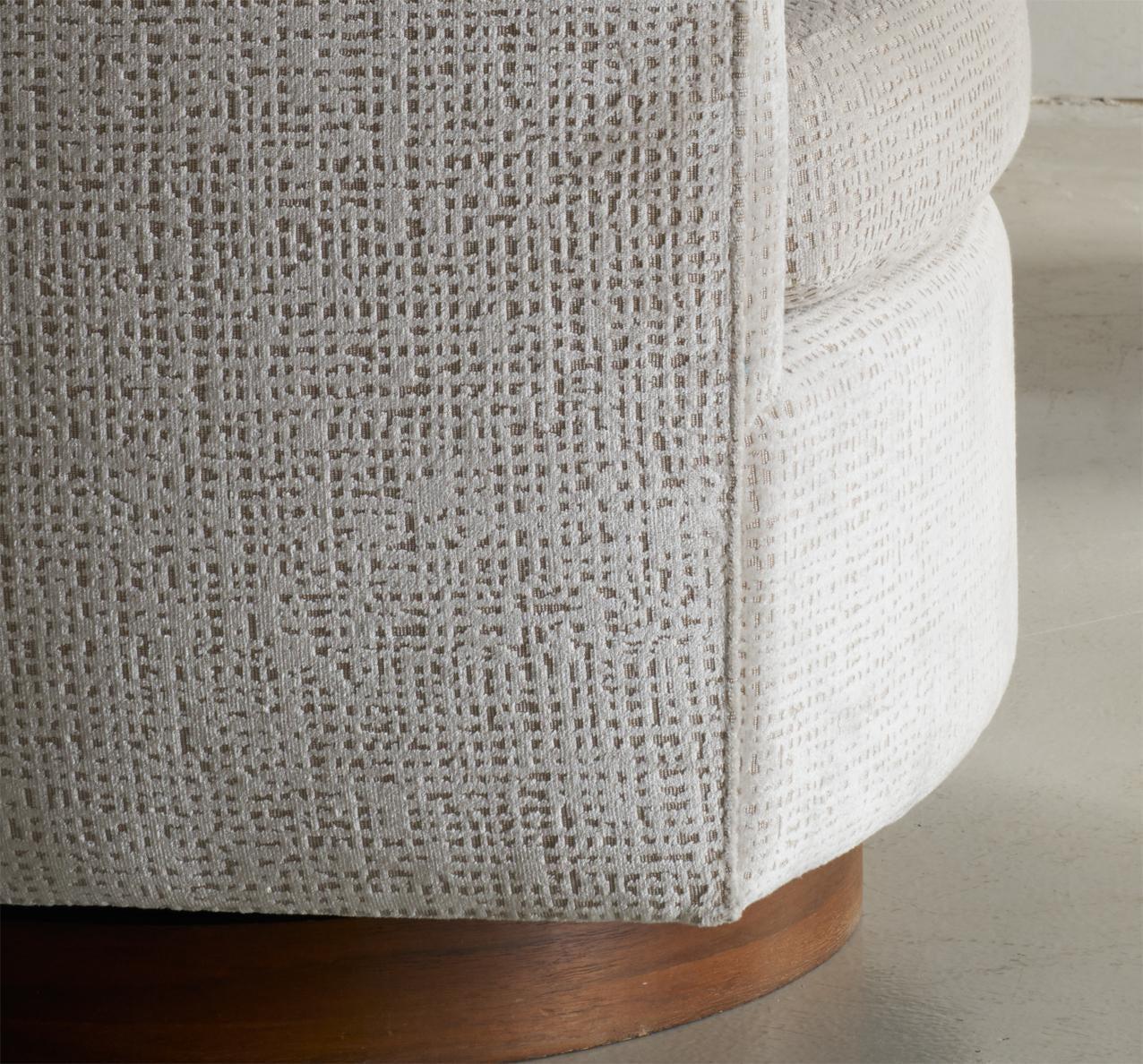 Milo Baughman Swivel Chairs In Donghia Velvet   Image 4 Of 5