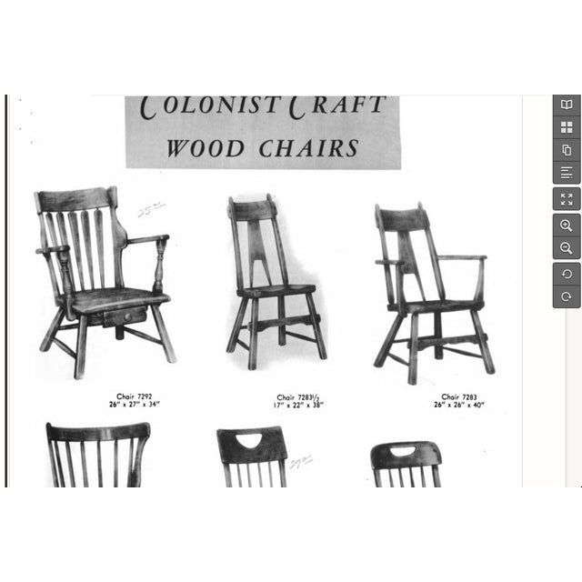 Sikes Furniture Chairs From 1939 - Set of 4 - Image 6 of 10