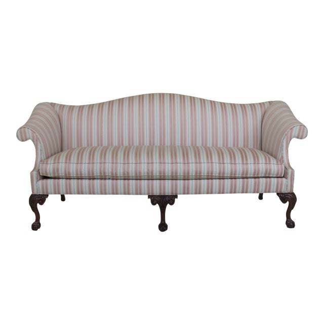 Modern Southwood Ball & Claw Chippendale Upholstered Sofa For Sale