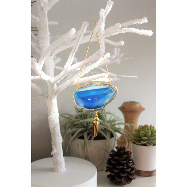 Modern Boho Agate Holiday Ornaments - Set of 6 - Image 5 of 10