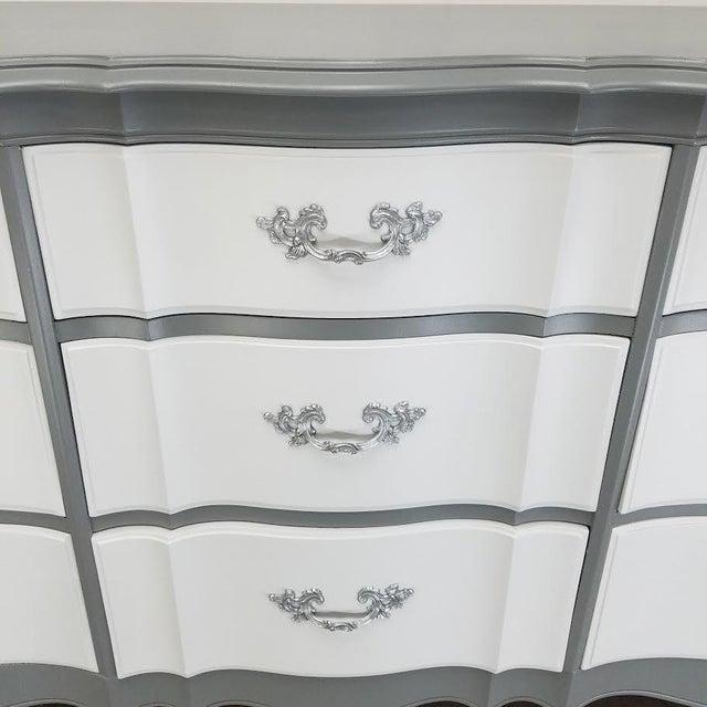 French Platinum Gray Dresser - Image 4 of 5
