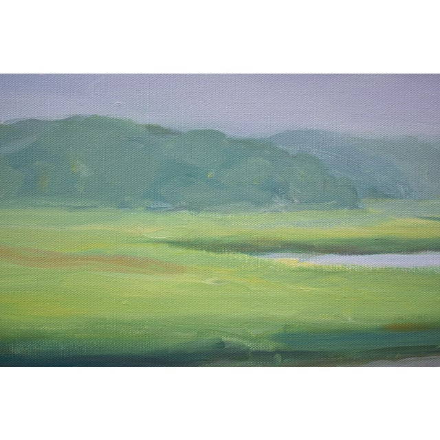 """2010s Contemporary Plein Air Painting """"Adamsville Landing"""" by Stephen Remick For Sale - Image 5 of 13"""