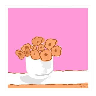 """Rose Vase in Pink"" By Dana Gibson, Framed Art Print For Sale"