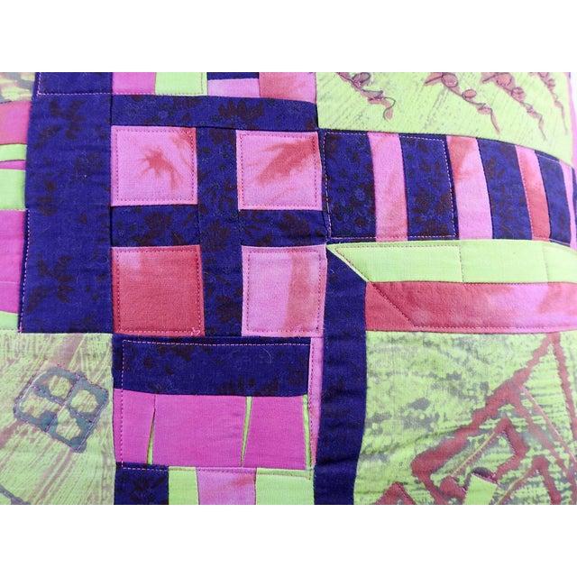 2000 - 2009 Vintage Textile Quilt Pillow For Sale - Image 5 of 7