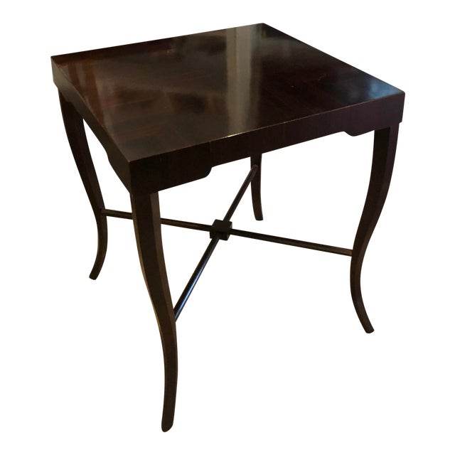Witford J. Alexander Art Deco Modern Designer Macassar Ebony End Table For Sale