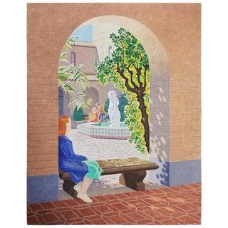 California School of Fine Art Painting by William Norris Dakin For Sale