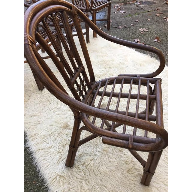 Vintage Rattan Chairs - Set of 4 - Image 6 of 8