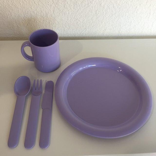 1980s 1980s Vintage Modern Pastel Melamine Dinnnerware - 20 Pieces For Sale - Image 5 of 7