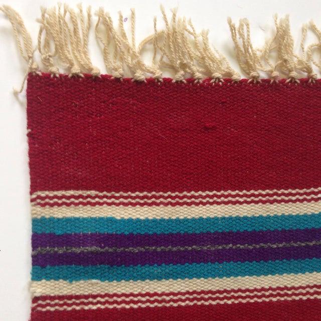 Handwoven Navajo Style Wall Hanging Rug - Image 10 of 11