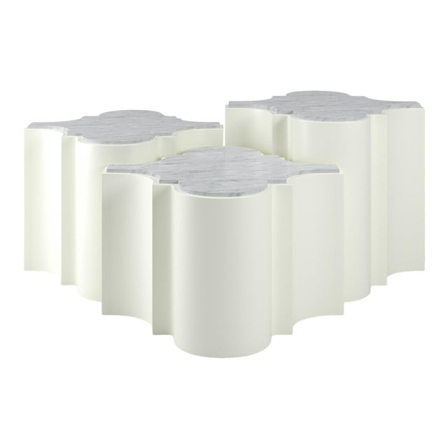 Sofia Nesting Tables, Set of 3 - Simply White For Sale