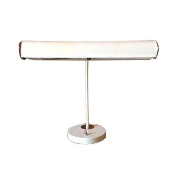 Vintage White Chrome Task Lamp - Image 1 of 6