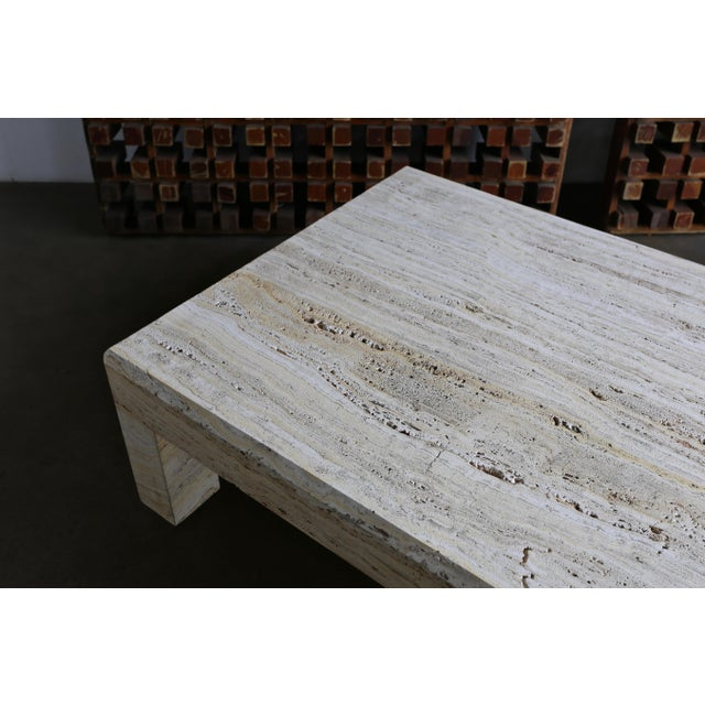 Travertine Coffee Table Circa 1980 For Sale - Image 9 of 13