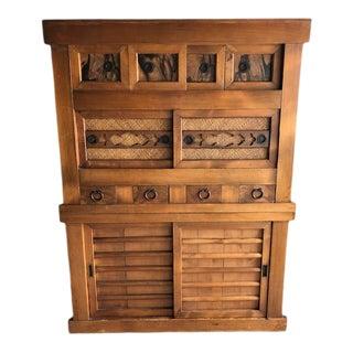 Japanese Tansu Meiji Period Cupboard in Kyoto Style For Sale